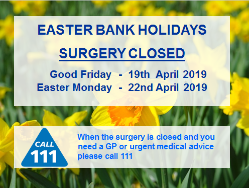 Easter Closure Dates 2019